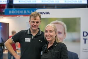 Mikael Pettersson och Sara Colange, Scania.