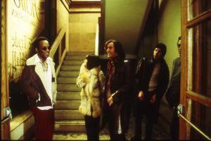 Alan Erasmus (Lennie James), Lindsay Wilson (Shirley Henderson) och Tony Wilson (Steve Coogan) i Michael Winterbottoms film