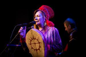 Norska artisten Mari Boine uppträdde på Gamla teatern.