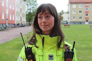 Mikaela Warberg, brandingenjör.