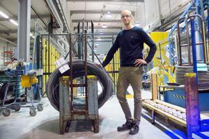 Pär Berglund, vd för Zapps verksamhet i Sandviken, ser fram emot att ta över resten av trådtillverkningen i Sandviken.