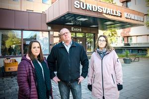 Sandra Malmsten, Petter Zetterlund och Sandra Sundström kommer att kämpa för att behålla byskolan i Ankarsvik.