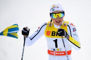 Stina Nilsson vann sprinten i Davos, men missar helgens tävlingar i Toblach. Bild: TT