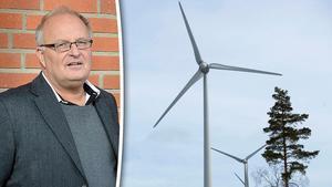 Sten-Ove Danielsson, kommunalråd i Ånge, svarar en tidigare insändarskribent om vindkraft. Bilder: Matilda Ermeland / Fredrik Sandberg/TT