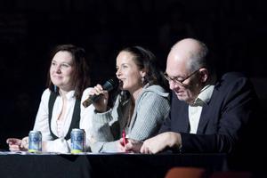 Juryn hade ett tufft jobb. Från vänster Ulrica Beijer, Malin Berghagen och Lasse Lingman.