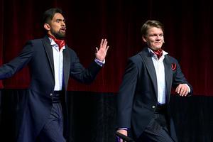 En rapp om viagra framfördes av David Johansson och André Vingård.