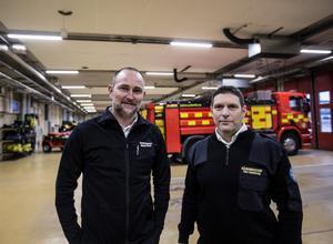Räddningstjänster i samarbete. Robert Strid och Toni Todorovski.