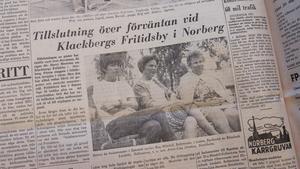 Tidningssida från Fagersta-Posten 26 juli 1968.