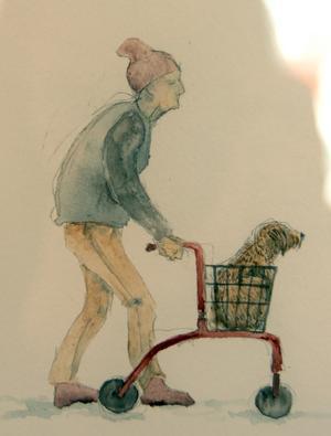 Mannen med rullator och hund - nog känner vi igen honom?