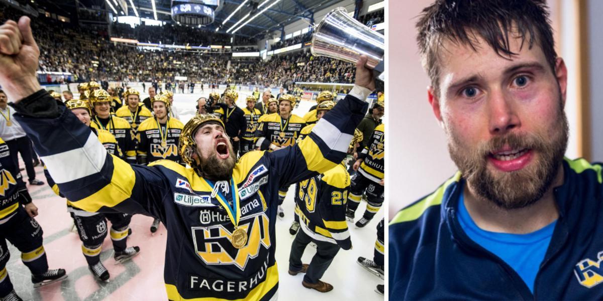 """141 matcher i Hv71 – nu lämnar han hockeyn: """"Har maxat karriären"""""""
