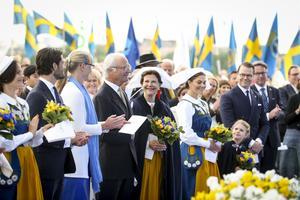Kungafamiljen under det traditionsenliga nationaldagsfirandet på Solliden på Skansen.Foto: Sören Andersson / TT