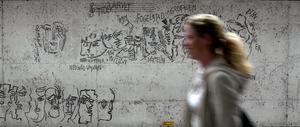 Konstnären Siri Derkert, själv Fogelstadelev, har hyllat Fogelstads grundare i sina konstverk i Östermalms T-banestation i Stockholm. Bild: Janerik Henriksson/Scanpix