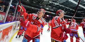 Får Victor Berglund och Tom Hedberg fortsätta jubla på hemmaplan?  Bild: Robbin Norgren