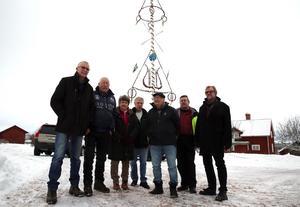 Rolf Almstedt, Hans Andersson, Lilian Spännar, Börje Andersson, Erik Spännar, Göran Gref och Per Svennar