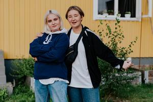 Kim Norrstrand och Hilda Björkman.