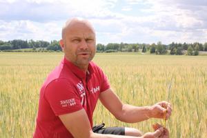 Fredrik Elander är bekymrad över årets utbredda torka.