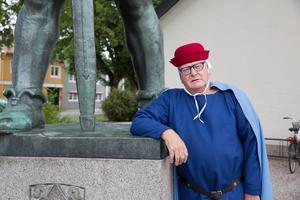 Hans Almgren, historiker, utklädd till Magnus Ladulås, kung mellan 1275 och 1290.