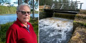 Bertil Hedlund är en av stugägarna vid Ejen som engagerat sig i en eventuell rivning av dammen.