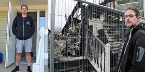 Erik Steffen har återvänt till bostaden som totalförstördes i branden. Bild: Roger Wallenius/Markus Sällberg