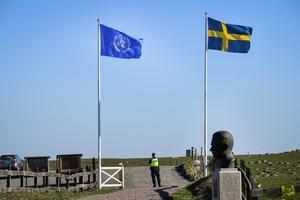 Sverige vårdar minnet av FN:s generalsekreterare Dag Hammarskjöld.Foto: Johan Nilsson/TT