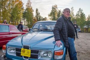 Ulf Lönngren, Hudiksvall, med den Saab V4 -80 som hans pappa köpte som ny för 38 år sedan.