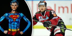 Christoffer Forsberg från Östersund är Stålmannen inom svensk ishockey. Foto: TT (Montage)