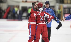 Almaz Mirgazov avgjorde VM-finalen med sina tre mål inför drygt 4 100 åskådare.