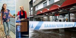 Lotta Larsson jobbade på Sparbanken i Hofors när den rånades 1993. Maria Sondell var tillförordnad kontorschef när Swedbank i Ockelbo utsattes för rån vintern 2008. Bild: Roger Wallenius/Arkiv