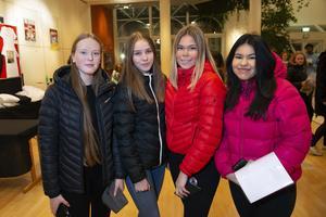 Cassandra Strandin, Sway Nordlander, Simone Weckenberg och Inez Flykt var förväntansfulla innan konserten.