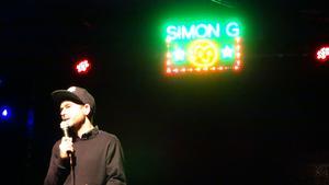 Simon Gärdenfors uppträdde på Liljan på lördagen.