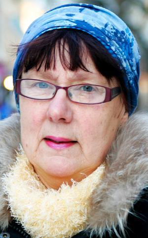 Margareta Jönsson,…60 år, Rossbol:– Jajamän, sådana här dagar när det är kallt. Är det under fem minus så åker långkalsongerna på, och annars också om man vet att man ska vara ute ett tag.