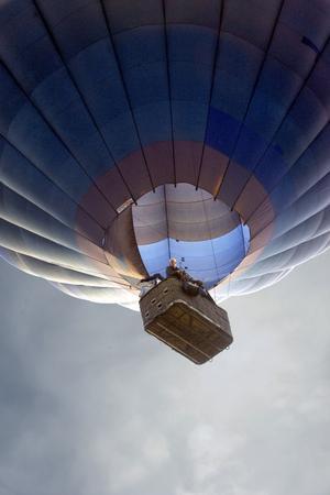 Ballongen flög lågt över Rengsjö camping.