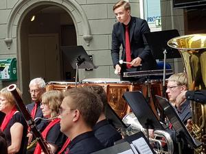 Puka är inget vanligt soloinstrument. Men Martin Stenström visade att det är möjligt. Bild: Ulla Hörnell
