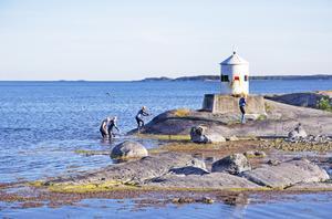Den nya fasta swimrunbanan utgår från Lövhagens kafé i Nynäshamn.