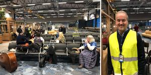 Första flyget till Sälen blev försenat. Gunnar Lenman, vd, berättade att det hade varit problem med bagaget i Malmö.