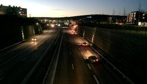 Trafikverket hade fruktat att bilköerna skulle vara långa på E4 när trafiken leddes om på gamla E4.