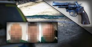Fotomontage: Mikael Hellsten/polisen. Live: Nu inleds rättegången – tre män misstänkta för Kvarnsvedsmordet