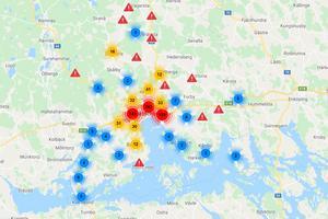 Här redovisas antalet trafikolyckor i Västerås med omnejd som inträffade under 2018. På NTF hemsida kan man se en mer detaljerad karta.