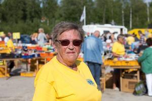 Solveig Terner kunde summera ännu en lyckad loppis i Nykvarn.