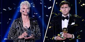 Nilla Fischer och Victor Nilsson Lindelöf fick ta emot Diamant- respektive Guldbollen.