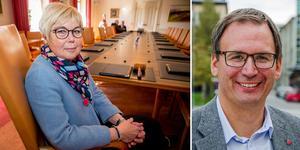 Västernorrlands landshövding Berit Högman och Sundsvalls kommunalråd Peder Björk.