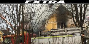 Enligt larmet till SOS började det att brinna med öppna lågor på altanen.