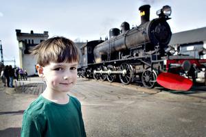 Ivan Thorsson, 5 år, har gillat tåg över halva sitt liv.