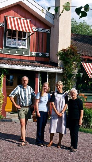 Dockteatern på turné till Carl Larsson-gården i Sundborn ca år 2000.