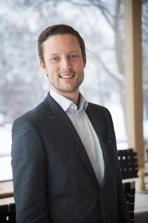 Simon Wancke,  vice ordförande för LRF Ungdomen. Foto: LRF