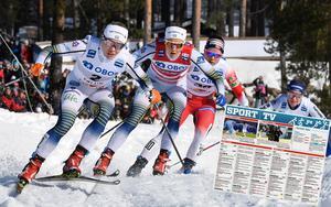 När skidåkarna på längden, tvären och med bössa på ryggen lagt ner säsongen blir det ganska lugnt på tv-fronten på helgerna. Foto: Ulf Palm/TT