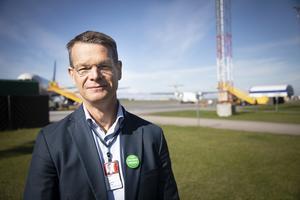 Peter Fahlén, chef på Åre Östersund Airport på Frösön.