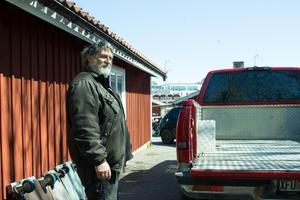 Andres Kübar är en annan av de tre yrkesfiskare som ännu är verksamma i Grisslehamn.