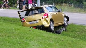 Bilen strax efter den dramatiska händelsen.