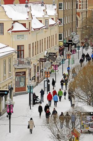 En bild på gågatan från 1 februari gick även vidare som månades bild för februari.
